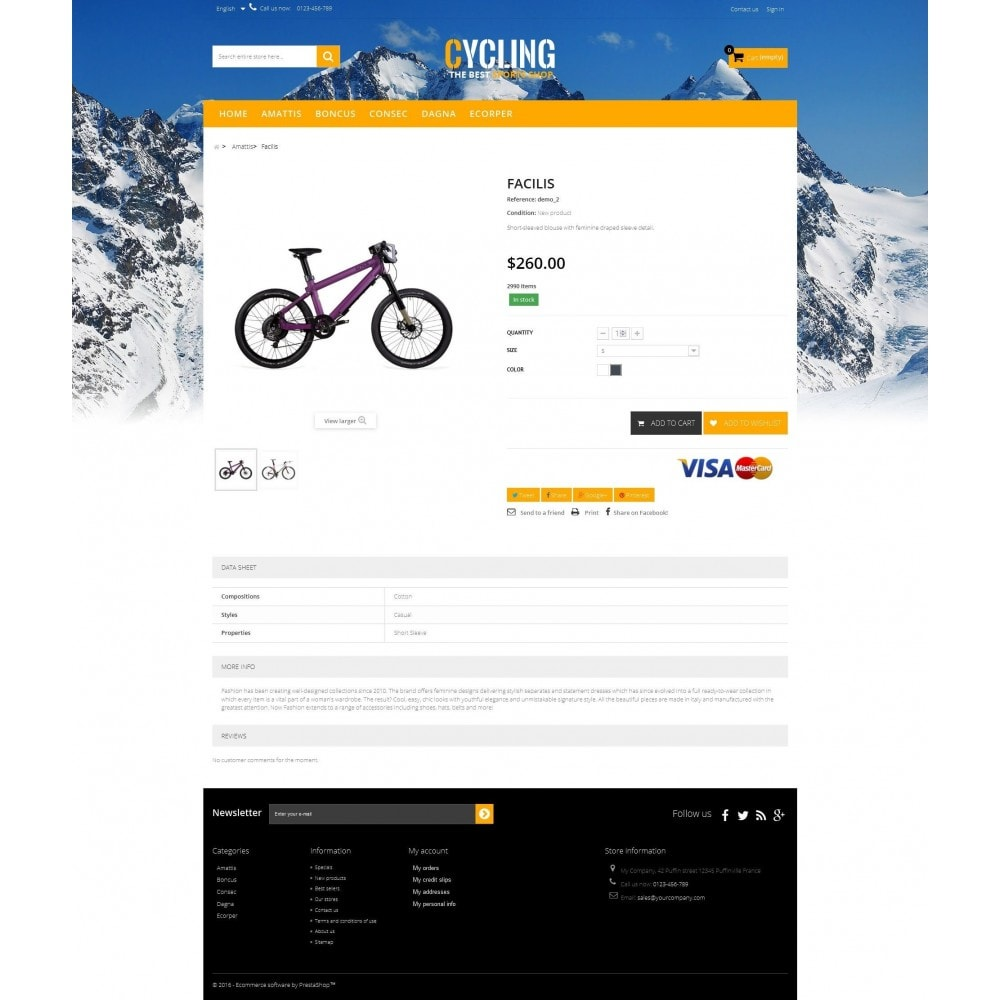 theme - Sports, Activities & Travel - Cycle Multishop HTML5 - 3