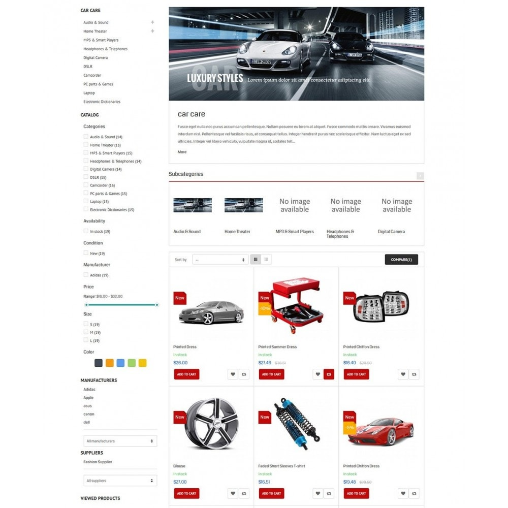 theme - Auto's & Motoren - Water Car Store - 4