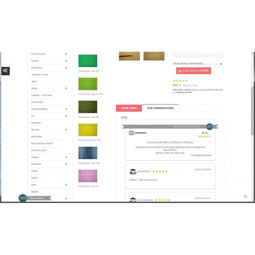 module - Comentarios de clientes - weeComments Opiniones de Clientes, Product Reviews - 9
