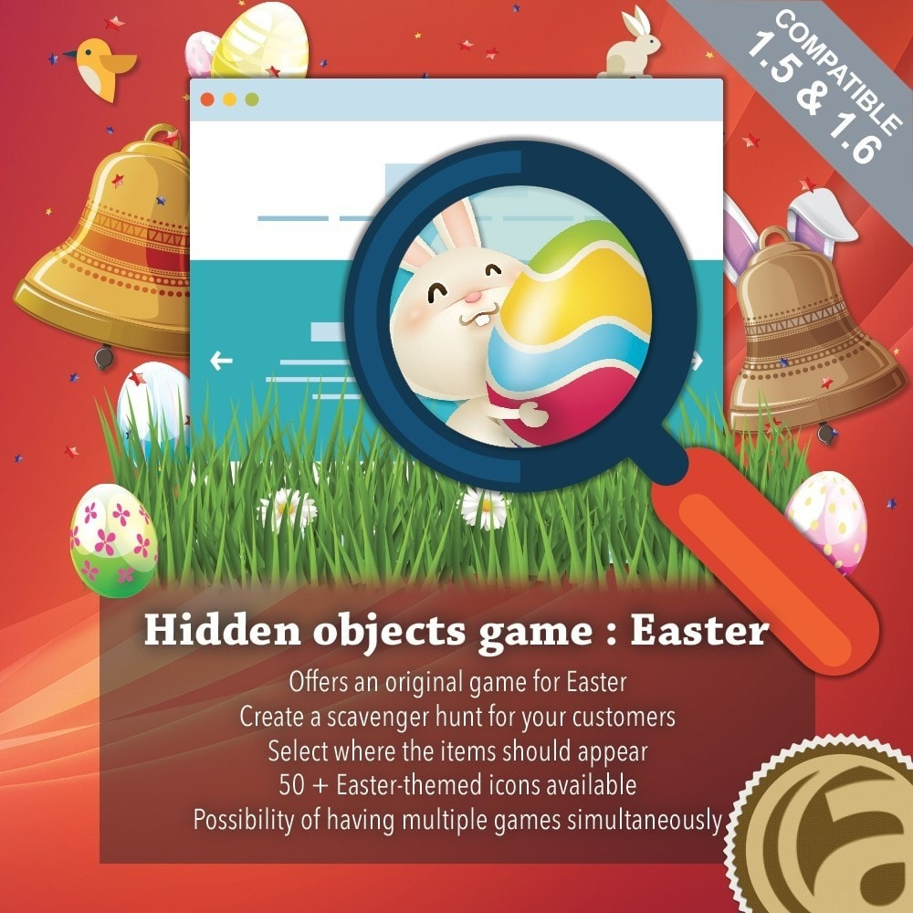 module - Concorsi a premi - Hidden objects game : Easter - 1