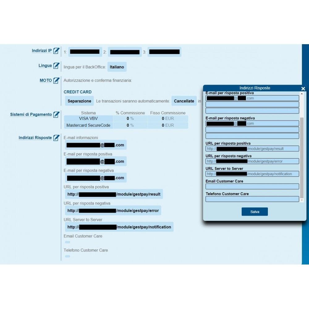 module - Zahlung per Kreditkarte oder Wallet - GestPay Banca Sella payment gateway advanced - 7