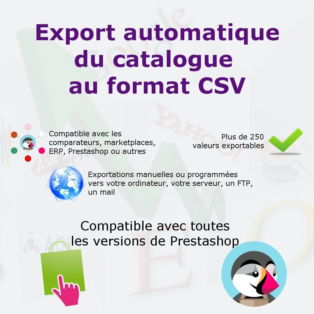 module - Import & Export de données - Export du catalogue au format CSV - 1
