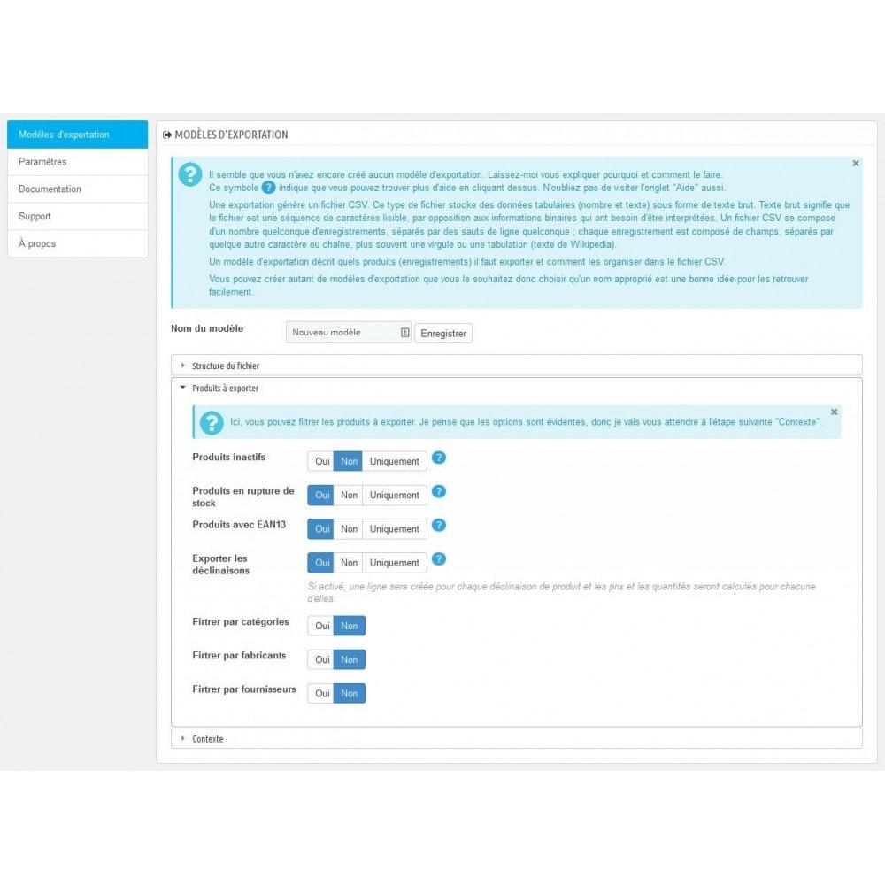 module - Import & Export de données - Export du catalogue au format CSV - 3