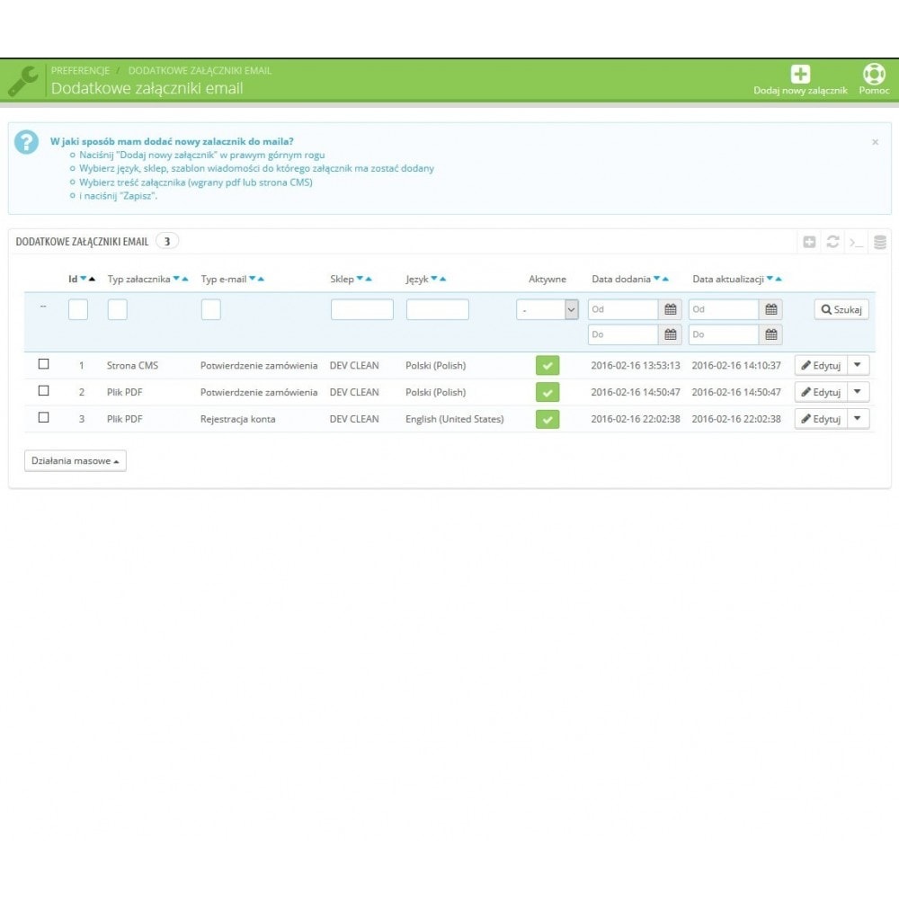 module - E-maile & Powiadomienia - Załączniki do wiadomości email Pro - 2