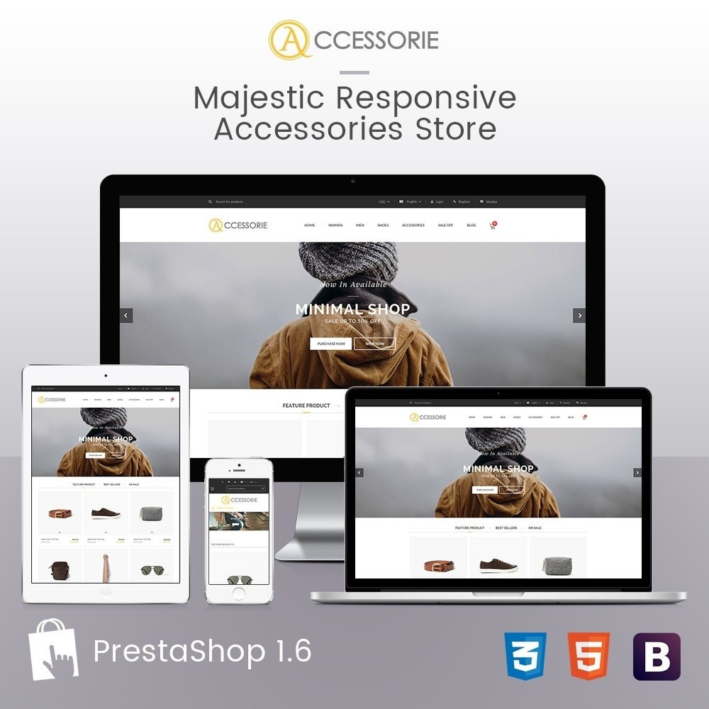 Minimal Accessorie Fashion & Shoes Responsive Store
