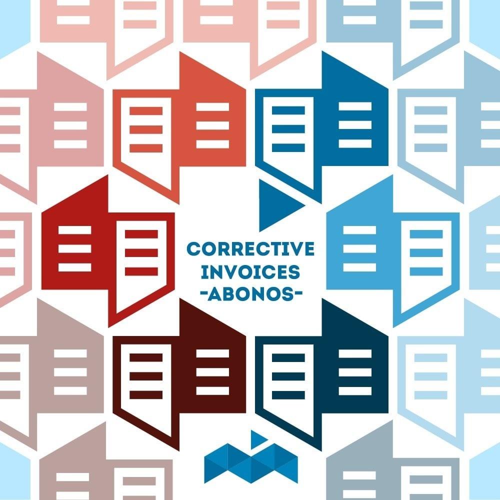 module - Buchhaltung & Rechnung - Corrective or negative invoices - 1