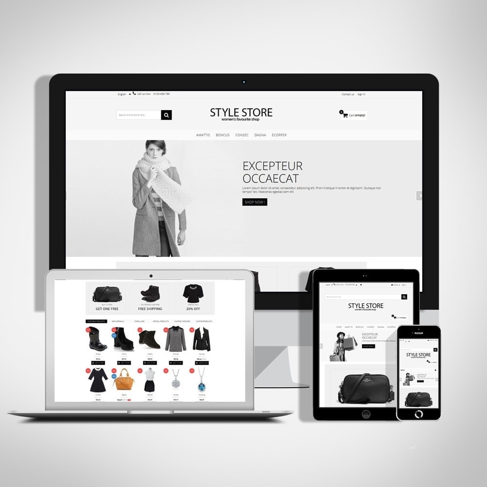 theme - Fashion & Shoes - Style Fashion Store HTML5 - 1