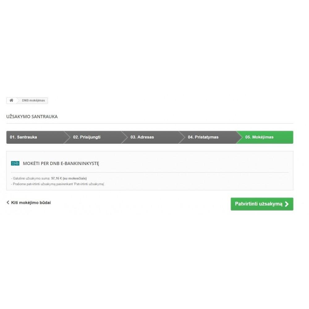 module - Płatność przelewem bankowym - DNB banklink Lithuania (Lietuva) - 2