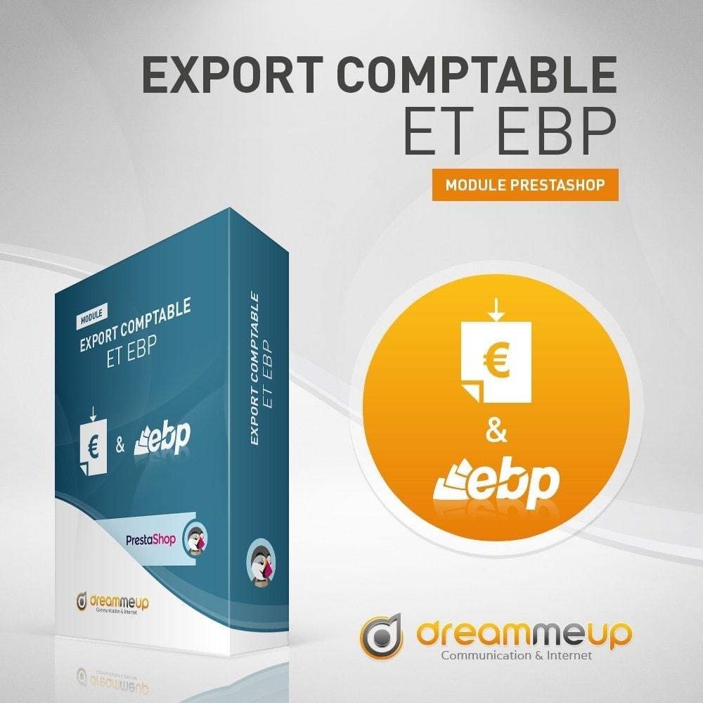 module - Connexion à un logiciel tiers (CRM, ERP...) - DMU Export Comptable et EBP - 1