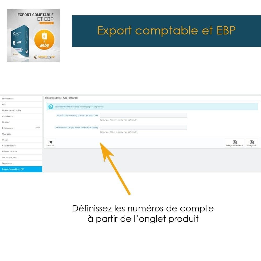 module - Connexion à un logiciel tiers (CRM, ERP...) - DMU Export Comptable et EBP - 3