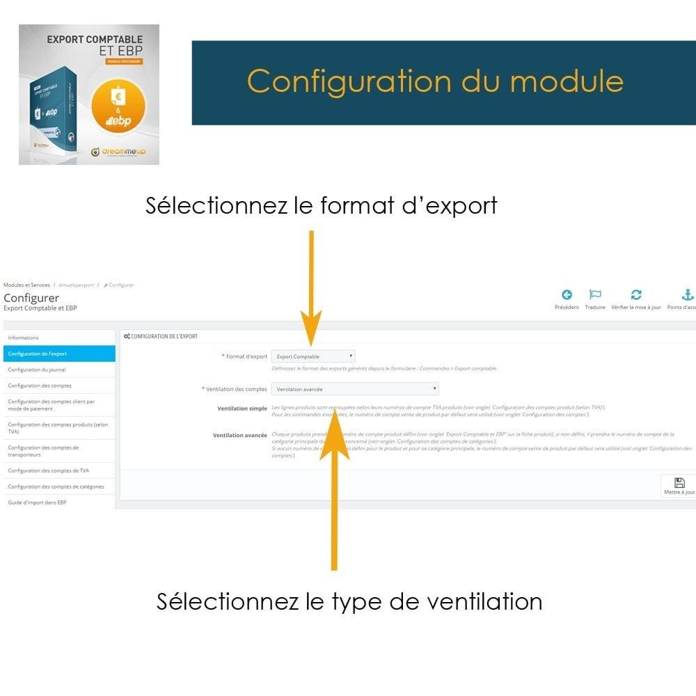 module - Connexion à un logiciel tiers (CRM, ERP...) - DMU Export Comptable CSV ou EBP - 6
