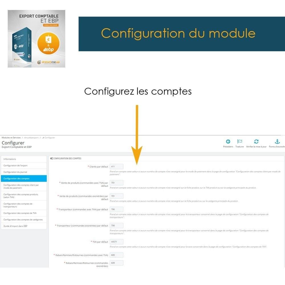 module - Connexion à un logiciel tiers (CRM, ERP...) - DMU Export Comptable et EBP - 8