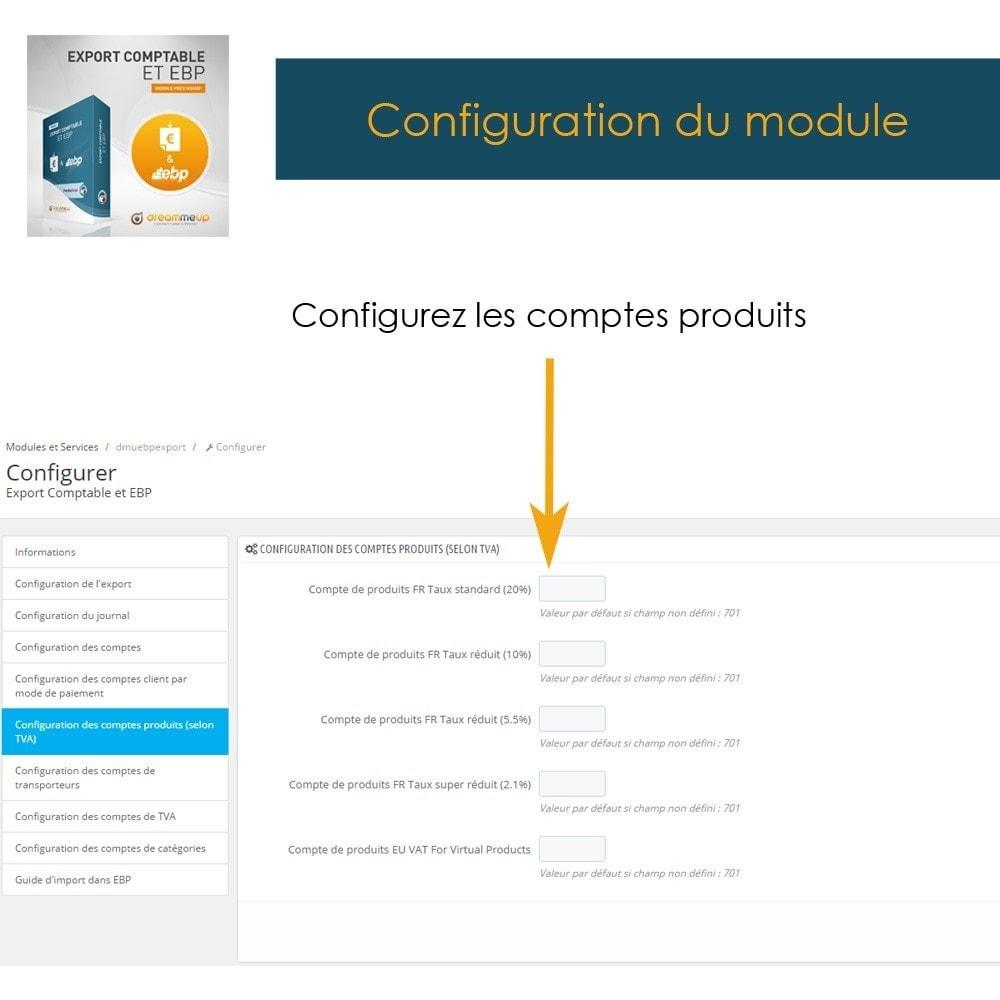 module - Connexion à un logiciel tiers (CRM, ERP...) - DMU Export Comptable CSV ou EBP - 10
