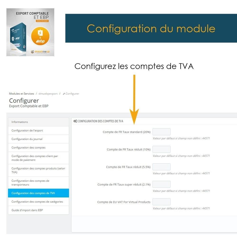 module - Connexion à un logiciel tiers (CRM, ERP...) - DMU Export Comptable et EBP - 11