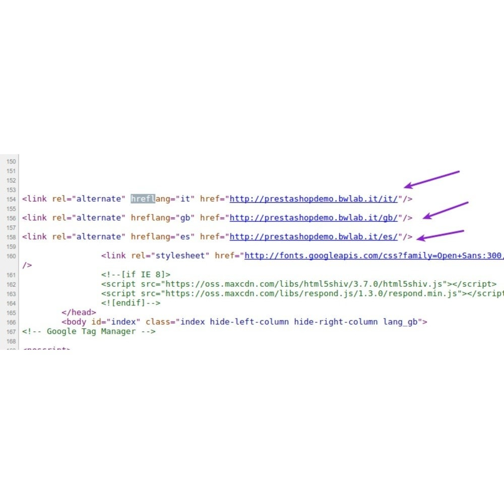 module - SEO (Indicizzazione naturale) - Hrefllag Tag per motori di ricerca e SEO - 3