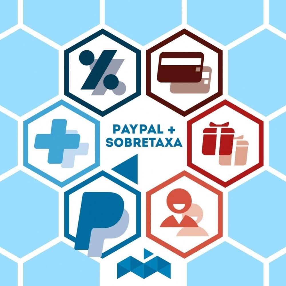 module - Pagamento por cartão ou por carteira - Paypal com Sobretaxa - 1