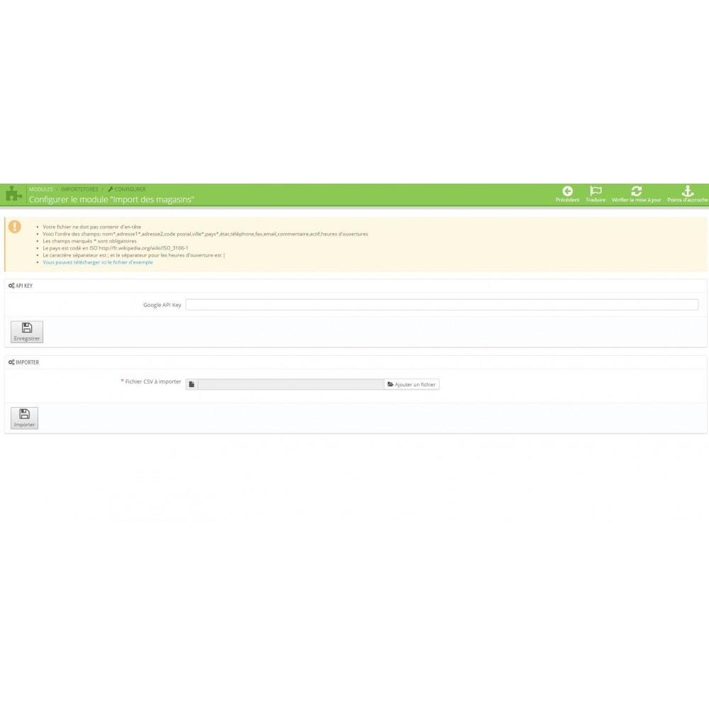 module - Import & Export de données - Import des magasins - 1