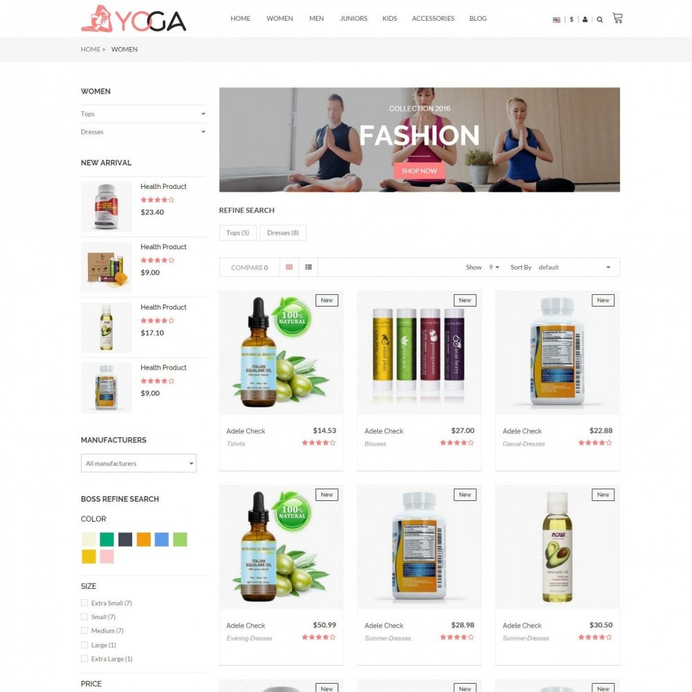 Bio, Medical & Well-being Yoga Responsive Store