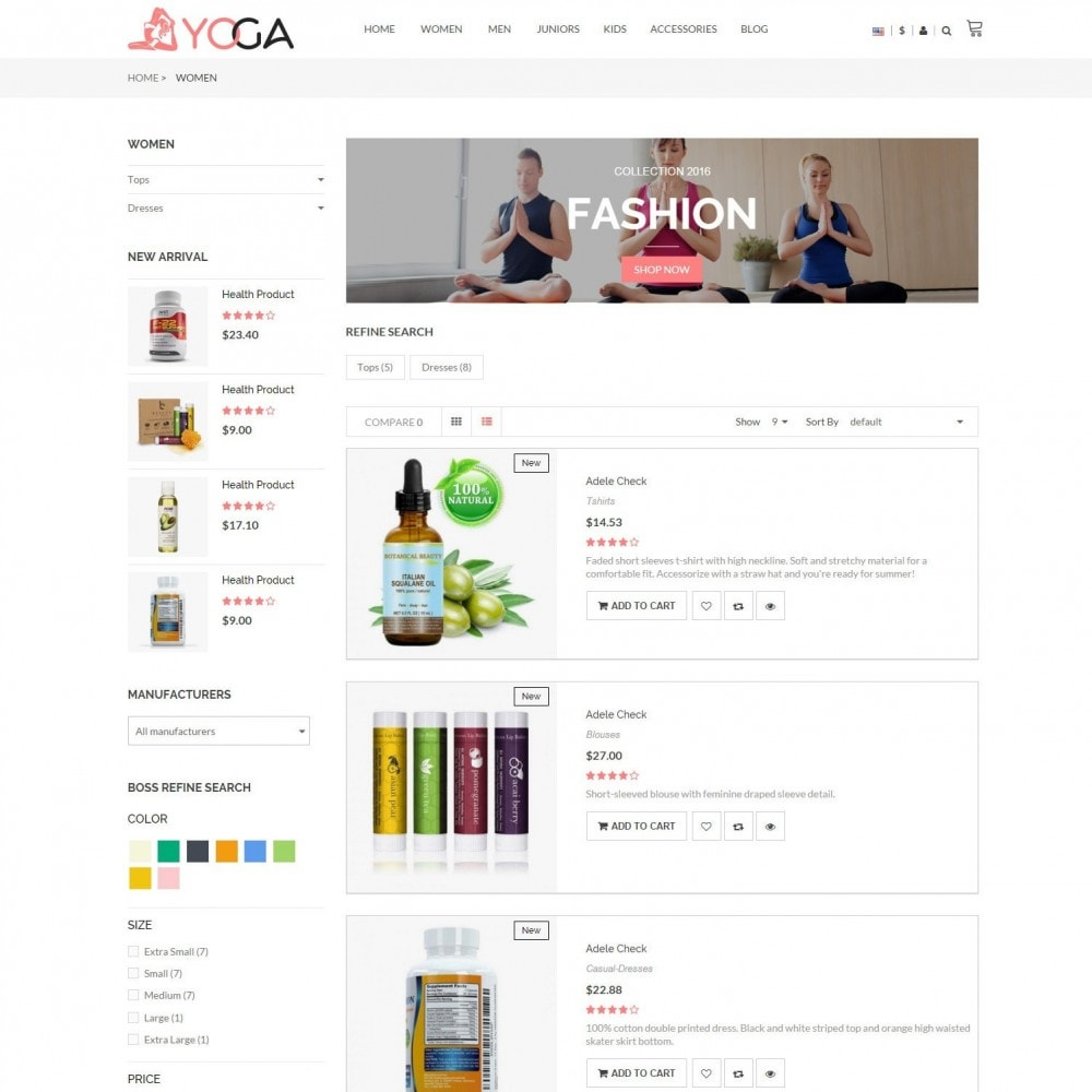 theme - Gezondheid & Schoonheid - Bio, Medical & Well-being Yoga Responsive Store - 4