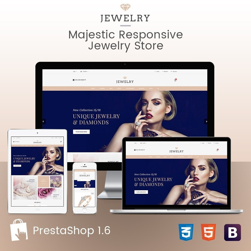 Beauty & Jewelry Responsive Store - Amazing