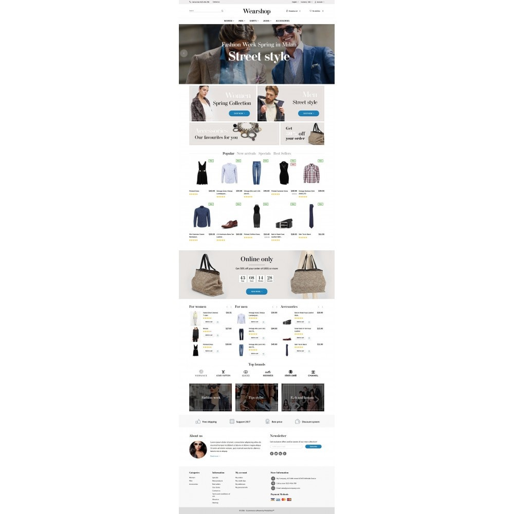 theme - Fashion & Shoes - Wearshop 1.6 Responsive - 4