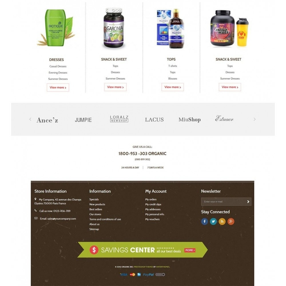 theme - Здоровье и красота - Water Bio Organic - 3