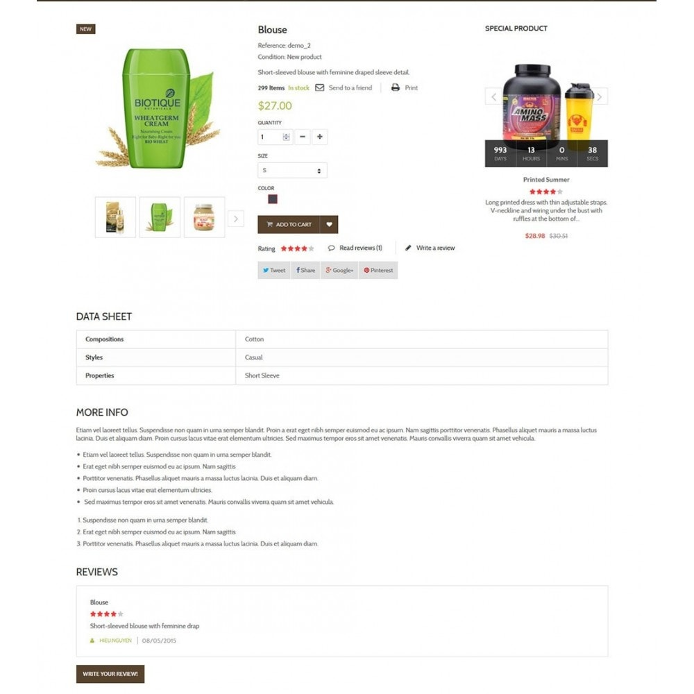 theme - Zdrowie & Uroda - Water Bio Organic - 6