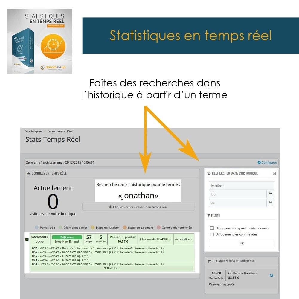 module - Analyses & Statistiques - DMU Statistiques en Temps Réel - 3
