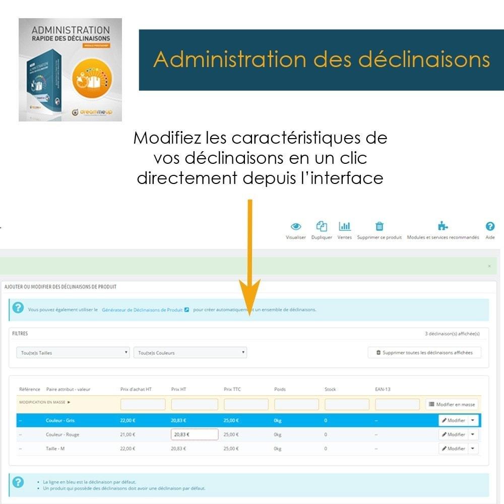 module - Outils d'administration - DMU Administration rapide des déclinaisons - 3