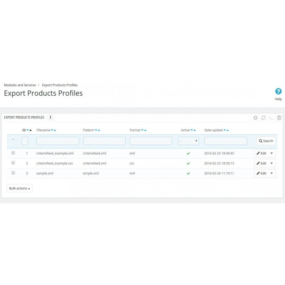 module - Importación y Exportación de datos - Product export to XML or CSV - 5