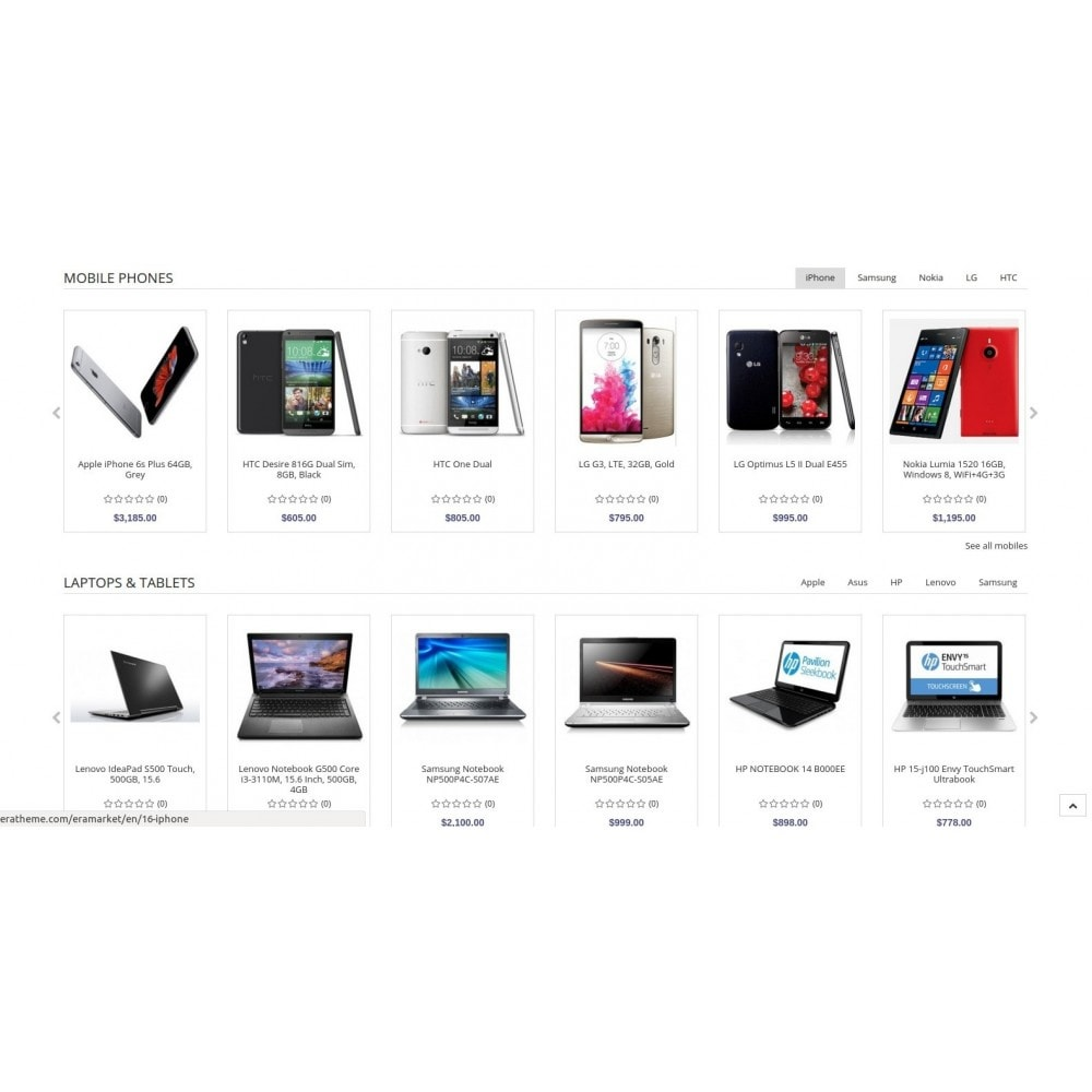 theme - Electronics & Computers - Eramarket Responsive - 4