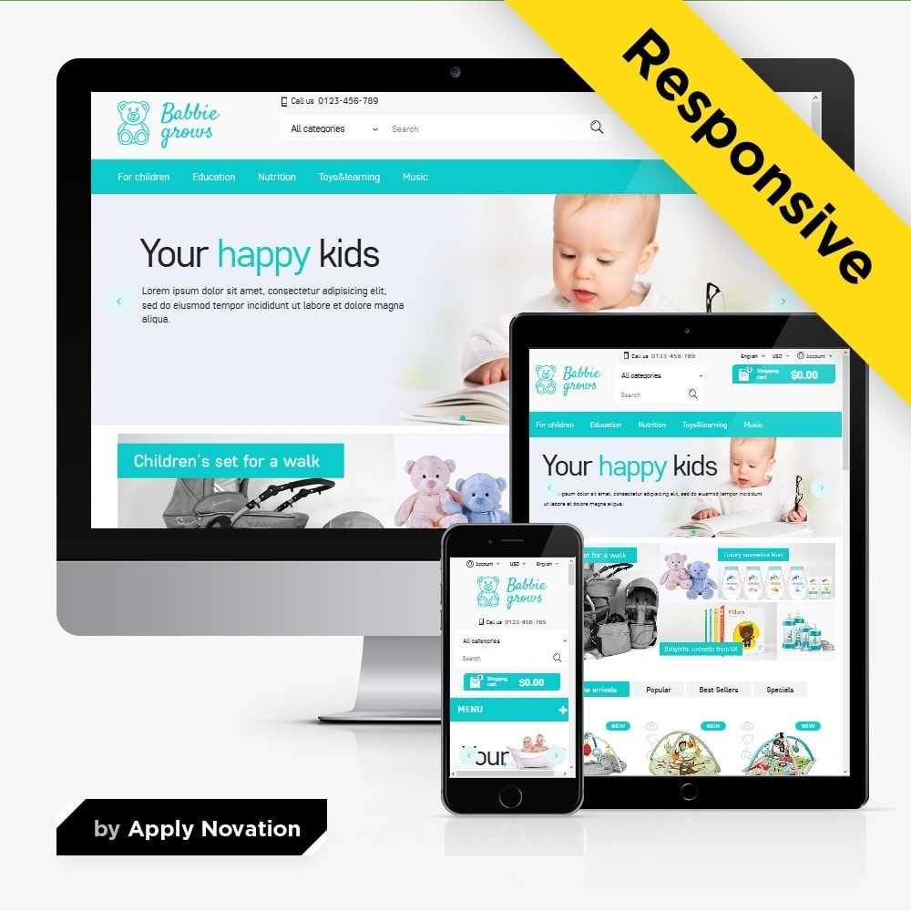 theme - Enfants & Jouets - Baby Grows 1.6 Responsive - 1