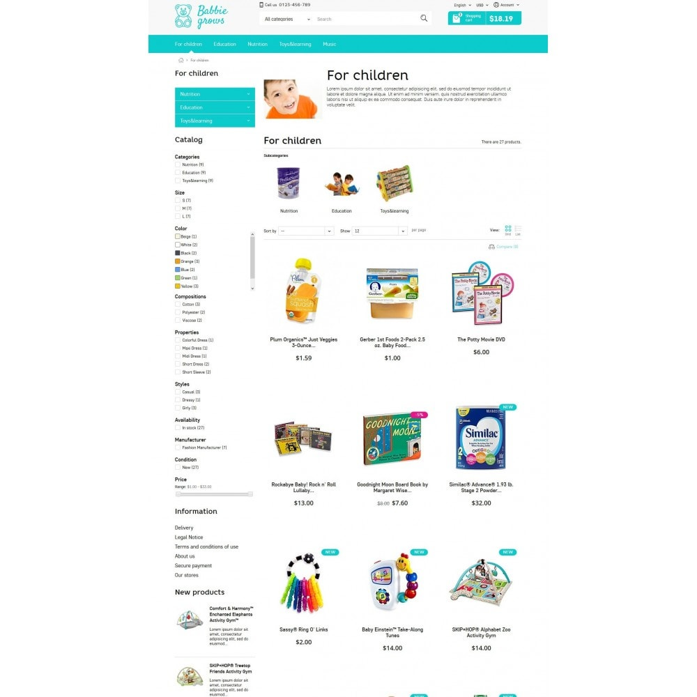 theme - Enfants & Jouets - Baby Grows 1.6 Responsive - 5