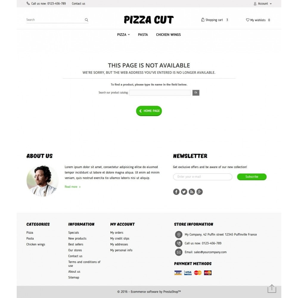 theme - Продовольствие и рестораны - Pizza Cut 1.6 Responsive - 9