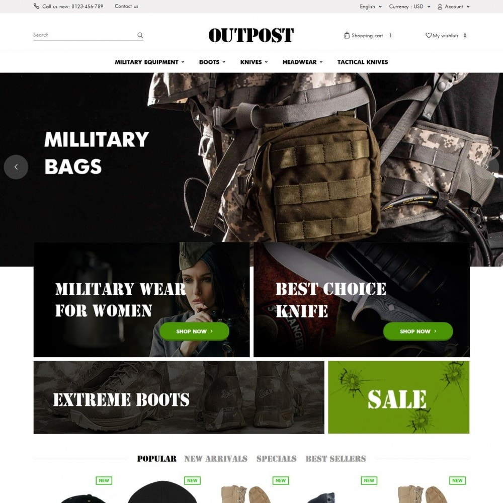 theme - Fashion & Shoes - OutPost 1.6 Responsive - 2