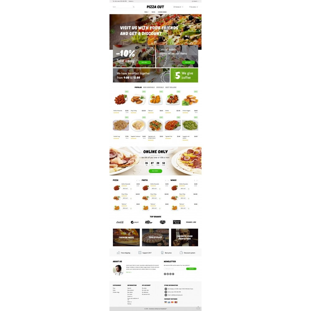 theme - Eten & Restaurant - Pizza Cut 1.6 Responsive - 4