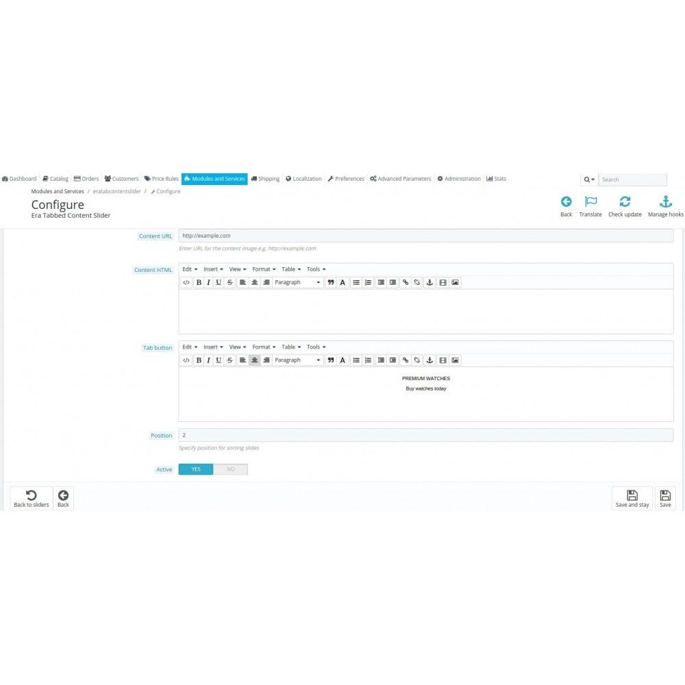 module - Блоки, вкладки и Баннеры - Era Tab Content Slider - 8