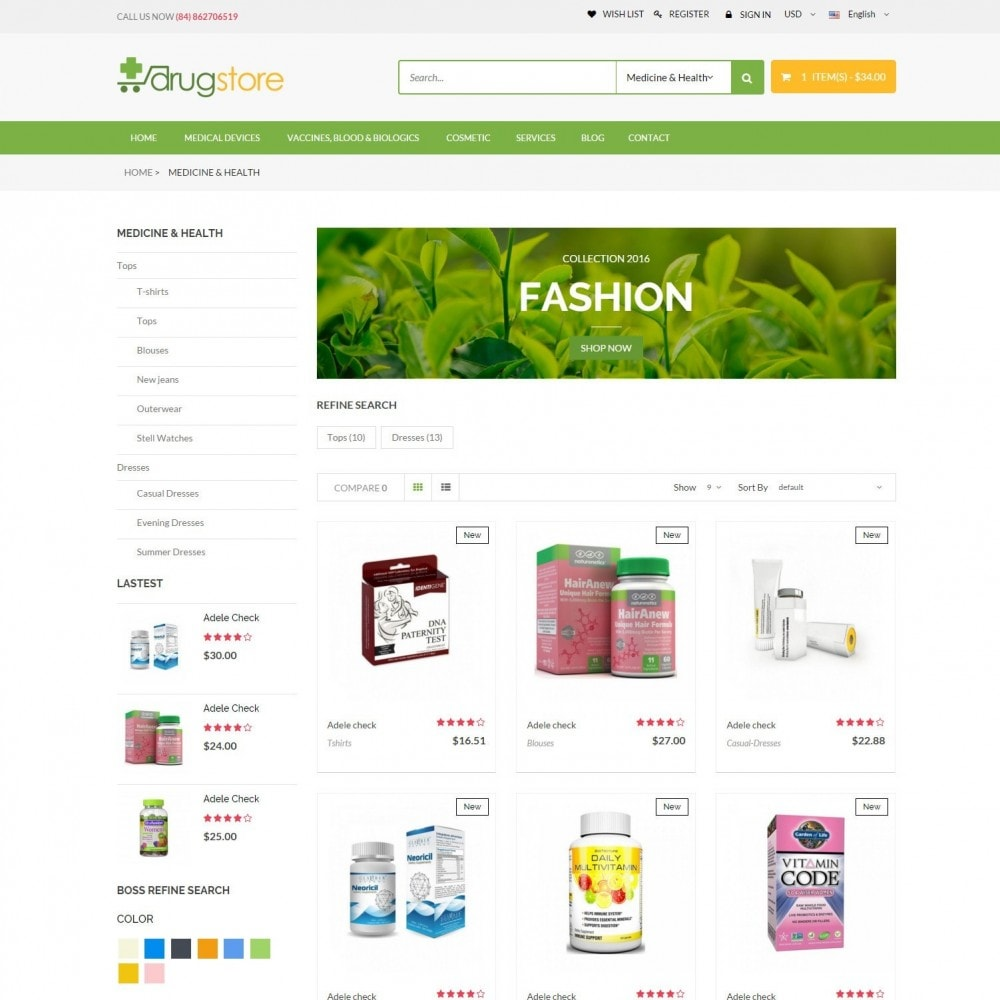 Vitamins, Skin Care, Health - DrugStore Responsive