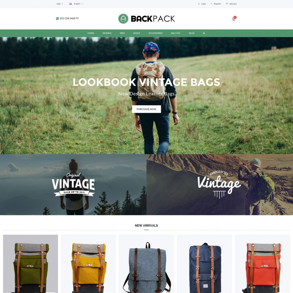 theme - Jewelry & Accessories - Bags & Luggage - Backpacks Responsive Store - 3