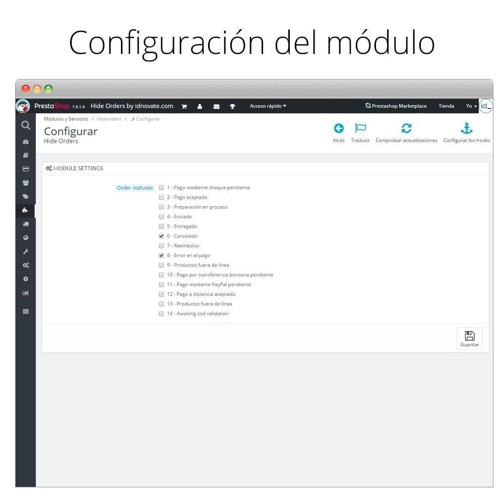 module - Gestión de Pedidos - Oculta los pedidos - Oculta los pedidos por estado - 2