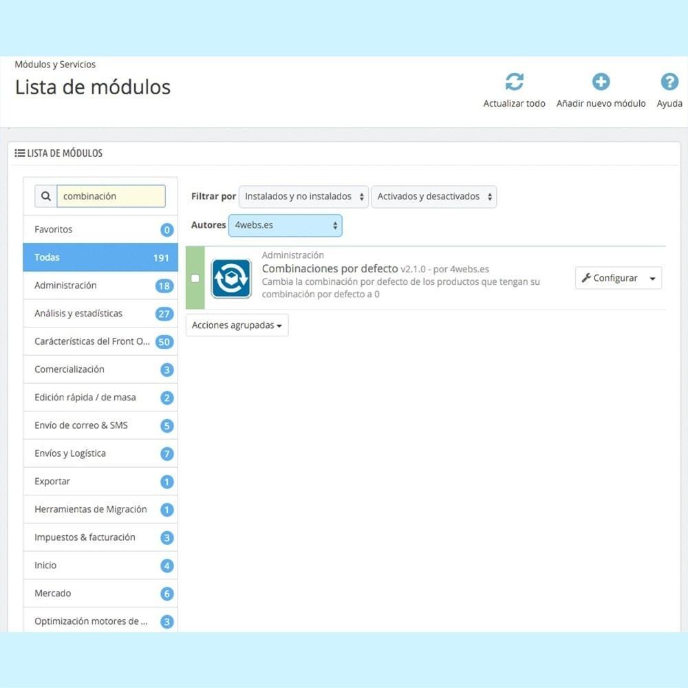 module - Combinaciones y Personalización de productos - Combinación por defecto siempre activa - 4