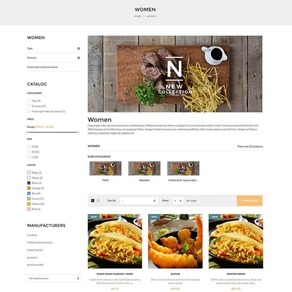 theme - Alimentation & Restauration - Water Delicieux Food Store - 6