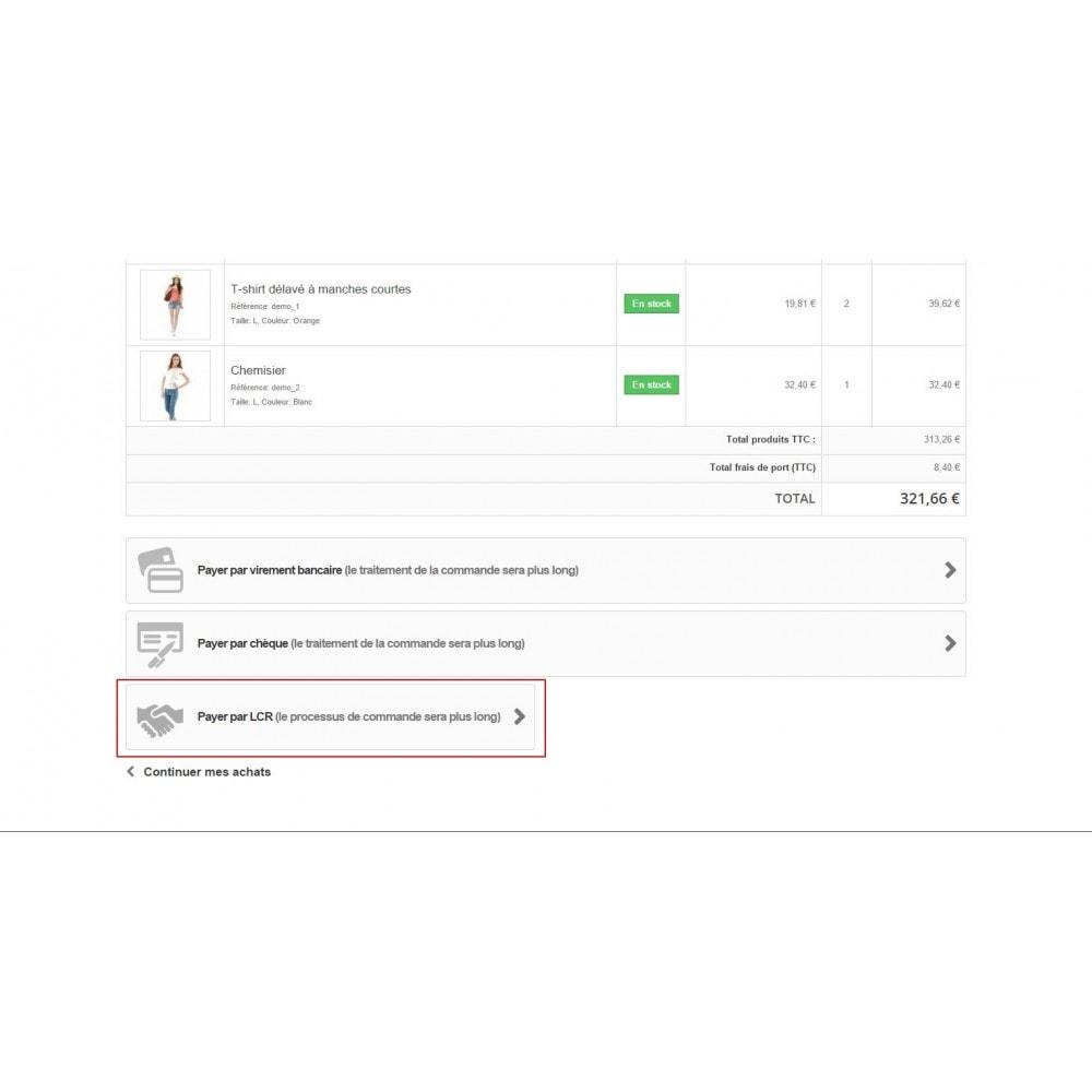 module - Autres moyens de paiement - Lettre de change relevé (LCR) - 6