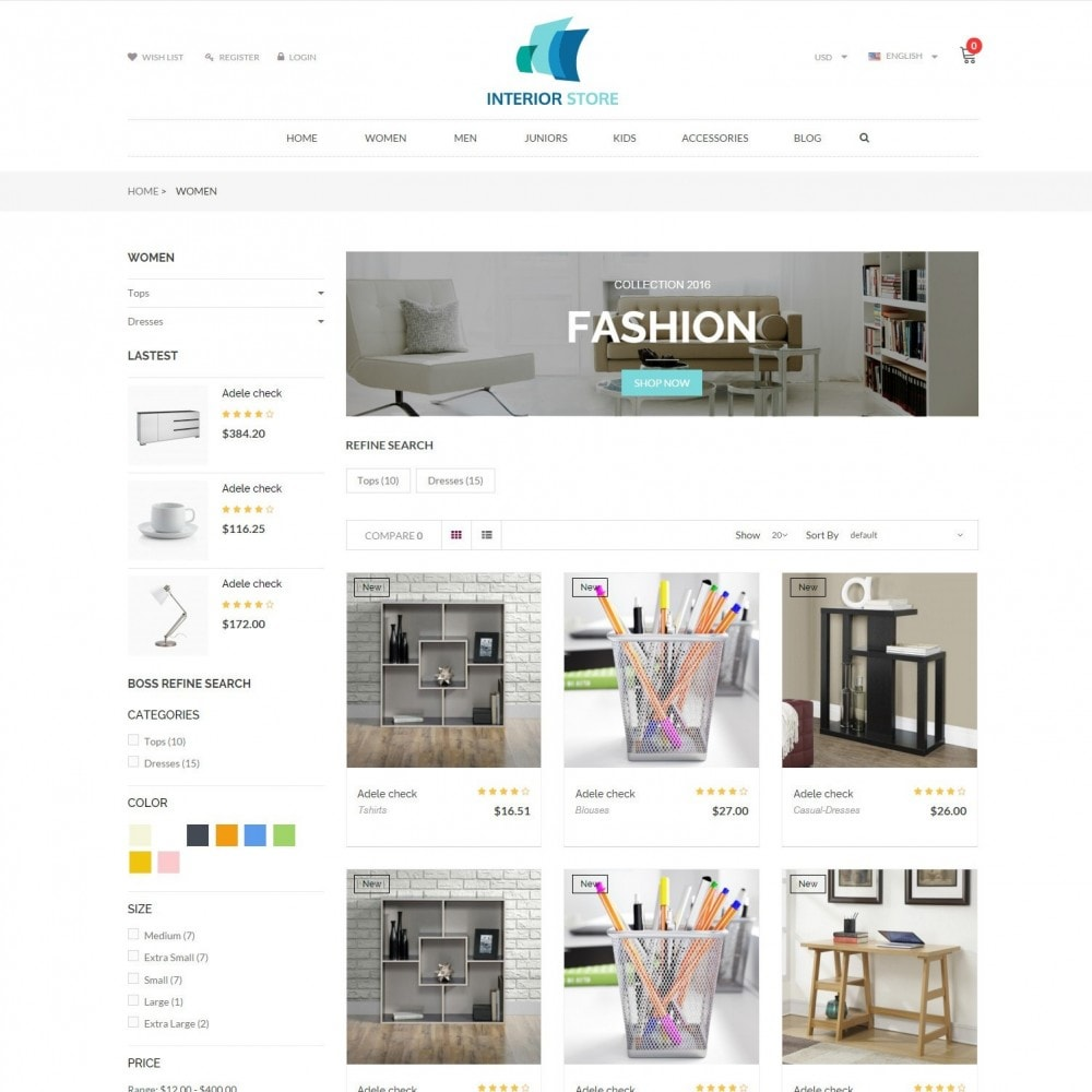 Home & Furniture - Interior Responsive Store