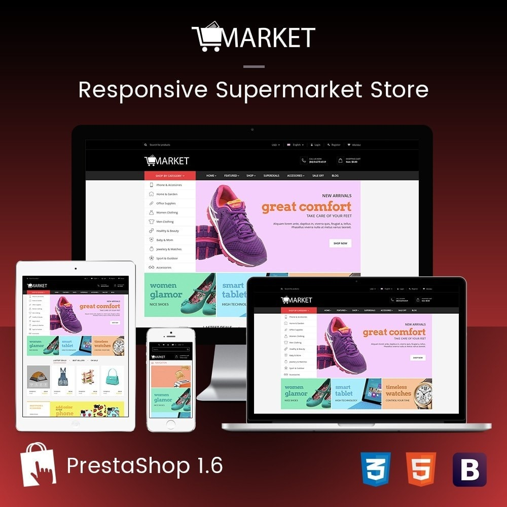 theme - Elektronik & High Tech - Fashion, Hightech & Baby - Market Responsvie Store - 1