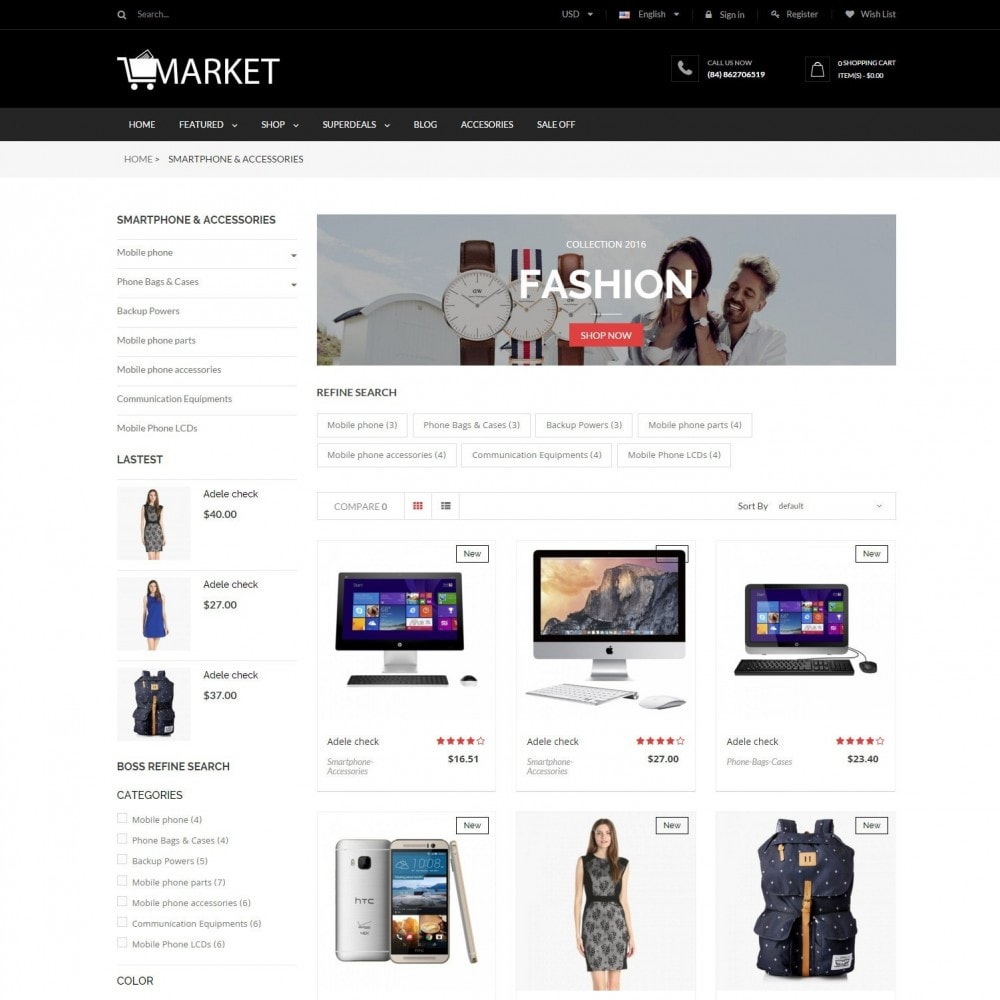 Fashion, Hightech & Baby - Market Responsvie Store