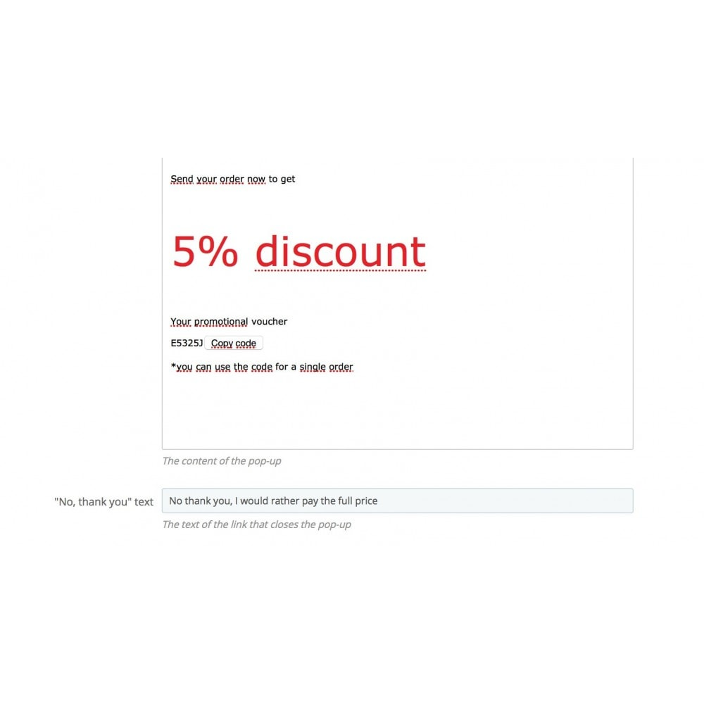 module - Remarketing & Shopping Cart Abandonment - On-exit intent pop up - 3