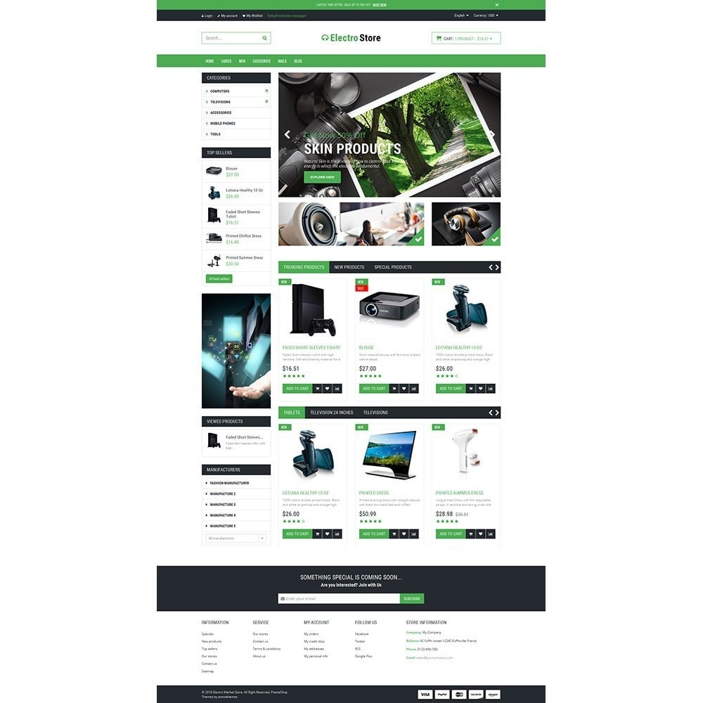Electro & HighTech Responsive Store