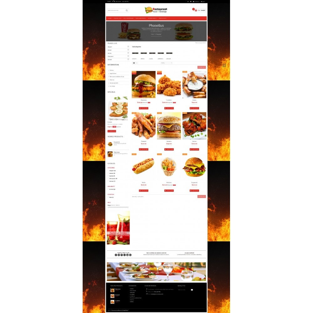 theme - Alimentation & Restauration - Pizza & Restaurant - 7