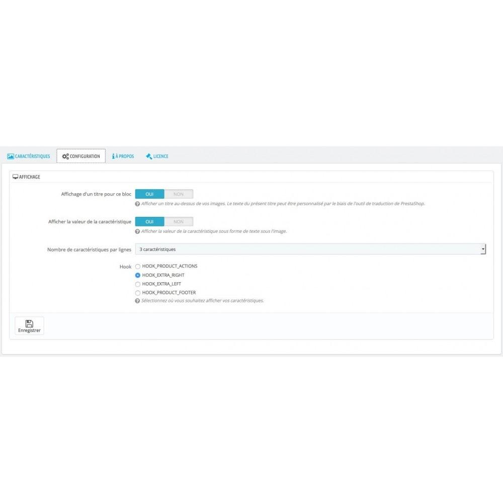 module - Etiquettes & Logos - Associez des images aux caractéristiques produit - 2